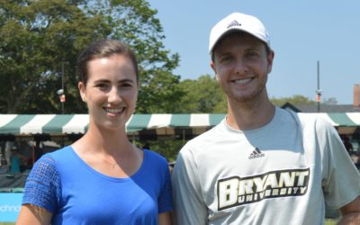USTA Rhode Island College Tennis Players of the Year Matt Kuhar and Evelyn Miller